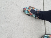 My shoes match the colors of the day!