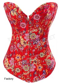Red floral corset