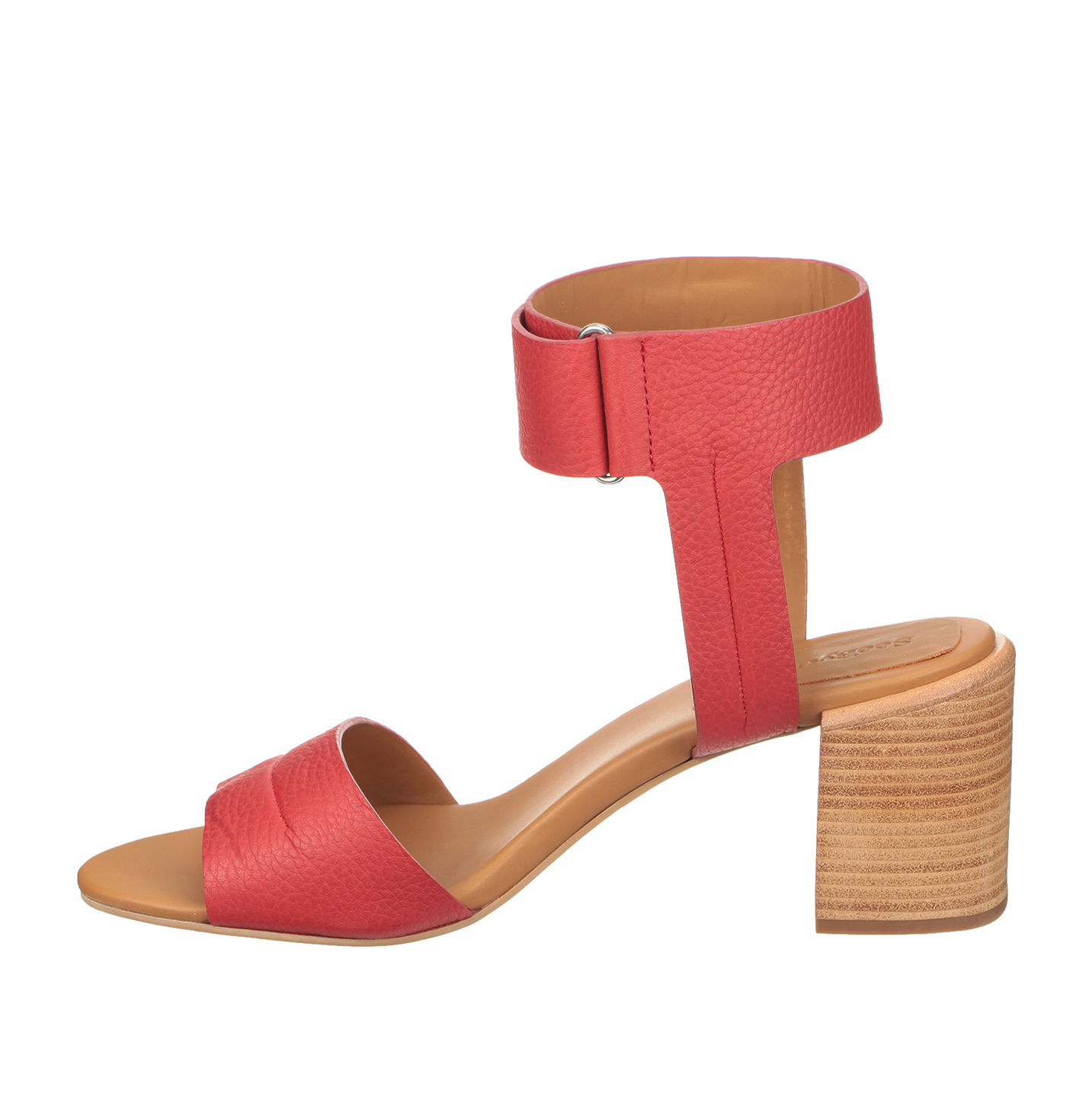 See by Chloe Block Heel Ankle strap sandals red