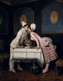 The Kiss - Auguste Toulmouche