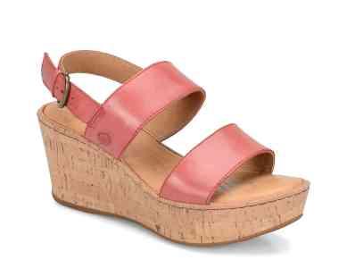 Born Mezger Wedge Sandal Pink