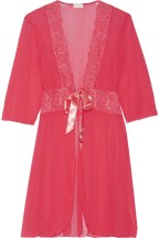 Cosabella Lace trimmed Tulle Wrap Pink