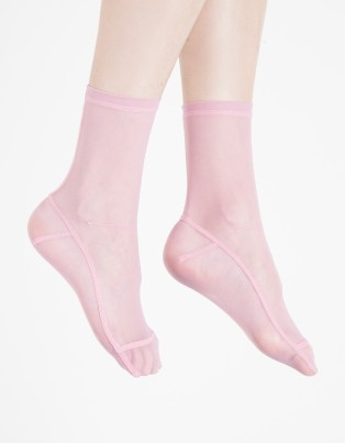 Darner Pink Solid Socks