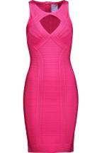 Herve Leger Pink Cut-out Bandage Mini Dress