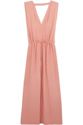 Jil Sander Crepe Maxi Dress Pink