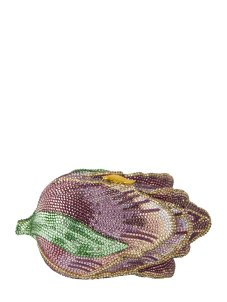 Judith Leiber Angelique Tulip Crystal Clutch pink
