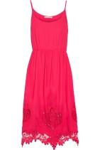 Maje Rayai Broderie Englaise Dress Pink