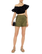 Marissa Webb marie-lace-up-shorts-olive