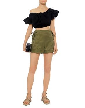 Marissa Webb marie-lace-up-shorts-olive