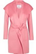 Max Mara Hooded Cashmere Coat Pink