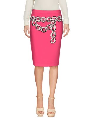 Moschino Cheap and Chic Chain Pencil Skirt pink