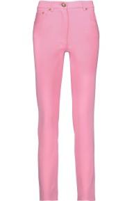 Moschino Crepe Skinny Leg Pink Pants