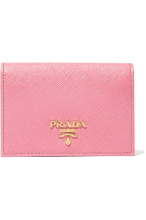 Prada Texture Leather cardholder pink