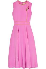 Roksanda Pink Silk Midi Dress