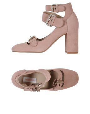 See by Chloe buckle pumps suede pink