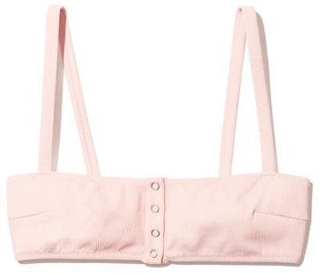 SOLID & STRIPED The Alice Petal Rib Bikini Top pink