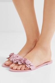 Sophia Webster Lilico Floral Sandals Pink flats