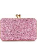 Sophie Hulme Sidney Glitter Pink Clutch