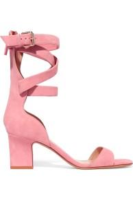 Valentino Pink Suede Sandals