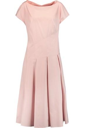 Vionnet Pink Poplin Cotton Blend Midi Dress