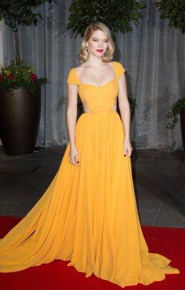 Bond Girl Léa Seydoux Yellow Dress