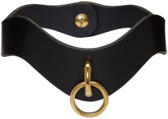 Fleet Ilya black slim o-ring collar $200 Ssense
