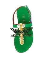 Ivy Kirzhner Dragon Fly low heel sandal Gilt $179 2