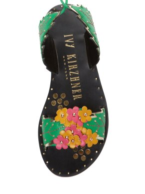 Ivy Kirzhner Gardenia leather sandal Gilt $199 4