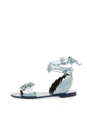 Ivy Kirzhner Gardenia leather sandal Gilt $199 blue
