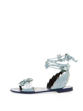 Ivy Kirzhner Gardenia leather sandal Gilt $199 blue