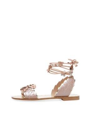 Ivy Kirzhner Gardenia leather sandal Gilt $199 blush