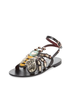 Ivy Kirzhner Honey Bee flat sandal Gilt $179