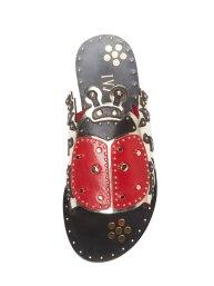 Ivy Kirzhner Ladybug leather sandal Gilt $179 3