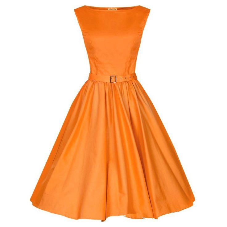 Lindy Bop Audrey Orange Swing Dress Dievca
