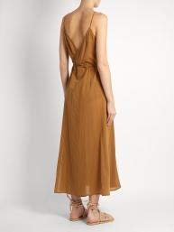 Loup Charmant Ballet Wrap cotton dress $250 back