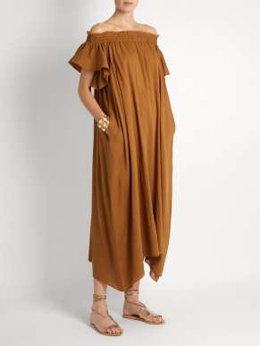 Loup Charmant Hydra off the shoulder cotton dress $463 model
