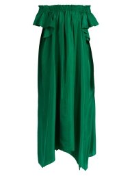 Loup Charmant Hydra off the shoulder silk dress $735