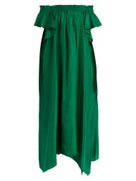 Loup Charmant Hydra off the shoulder silk dress $735