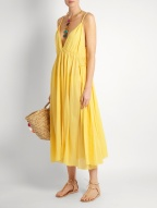 Loup Charmant Lucia cotton dress $359 model