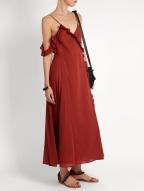 Loup Charmant Waterfall cotton dress $360 model
