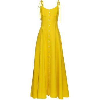 Rosie Assoulin High Garden button-down gown yellow dress