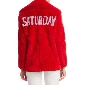 Alberta-Ferretti-Weekday-fur jacket-saturday black