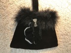 Velvet and Feathers Evening Bag
