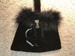 Black Velvet and Feather EveningBag