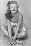 Marilyn Monroe exuberance at the beach