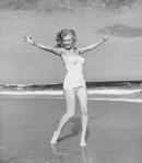 Marilyn Monroe photo by Andre De Dienes exuberance at thebeach