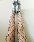 Rhinestone embellished tights and glitter boots EtsyAd