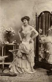 1890's Victorian corset smile