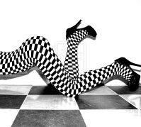 black and white bodystocking by Aszap.deviantart.com on @deviantART