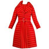 Rare Kreinick 1960s Vintage Red + Yellow Polka Dot Mod Dress + Jacket Ensemble $995 1stDibs